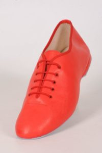 red salsa dancing shoes